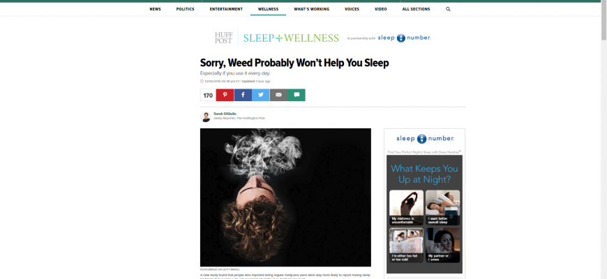 Marijuana Could Hurt Your Sleep More Than Help It