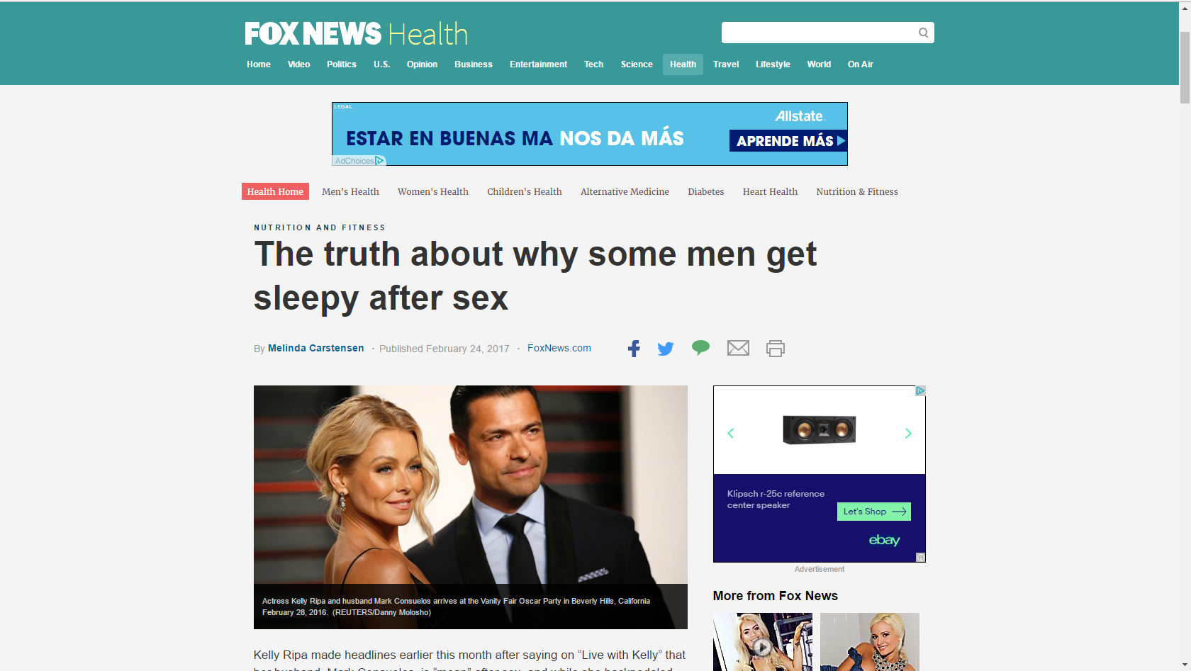 Why do men sleep after sex
