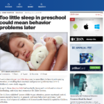Lack Of Sleep In Preschool Could Mean Future Behavior Problems