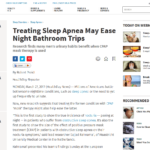 sleep apnea related bathroom trips