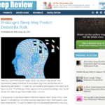 Sleep risk for dementia