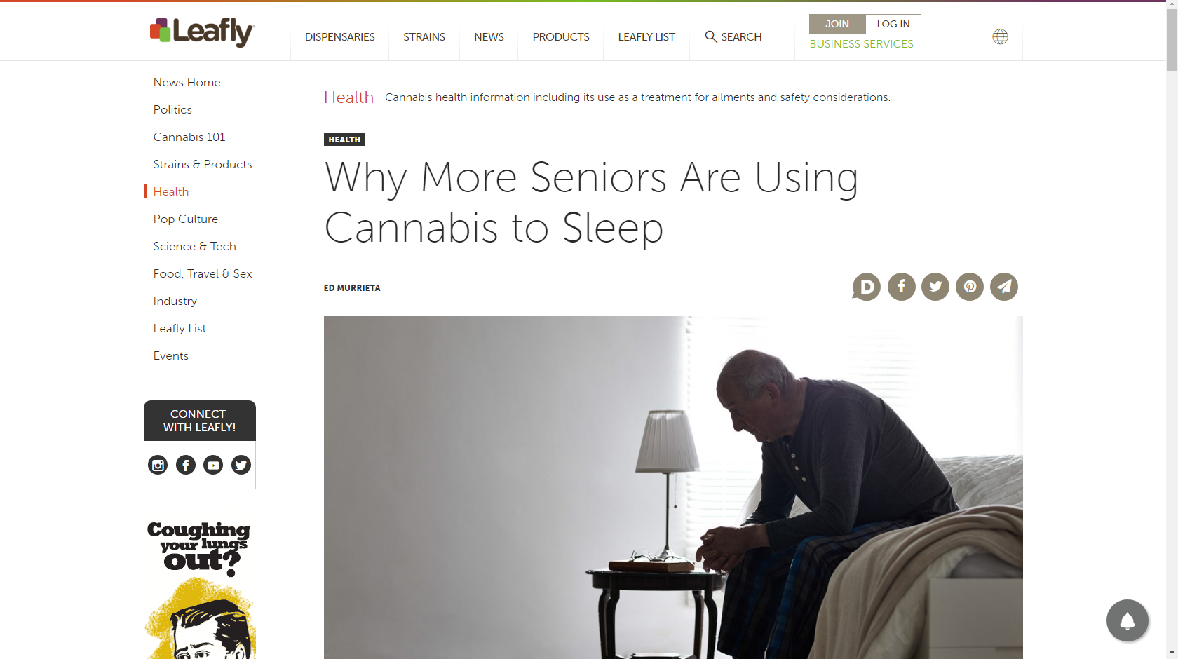 cannabis is being used by more seniors to sleep
